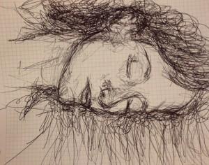 katrin andrist, hand drawing